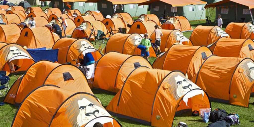 Oranjecamping Frankrijk EK voetbal