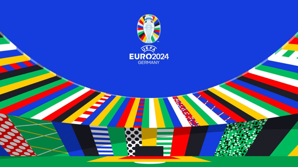 Officiële logo EK 2024 voetbal in Duitsland
